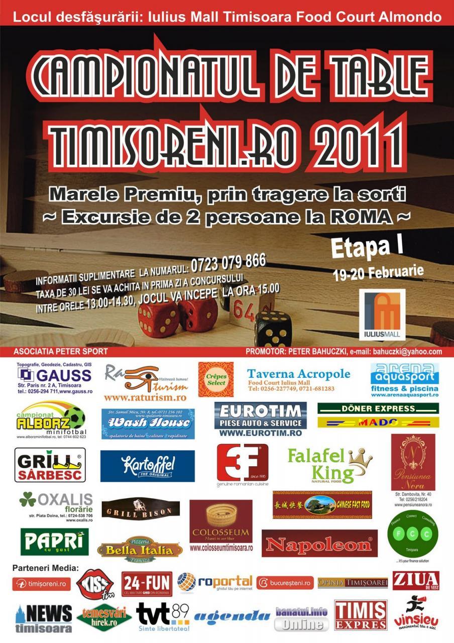 Campionatul de Table timisoreni.ro 2011